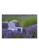 Abbott Collection Lavender & Chair Wall Canvas