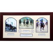 Steiner Sports Victor Espinoza All Three Wins Framed Photo, 50cm x 80cm