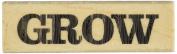 Hampton Art Grow Wood Rubber Stamp