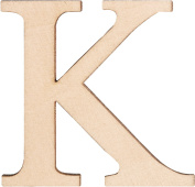 Walnut Hollow Wood Letters and Numbers, 3.8cm , K, 2 Per Package
