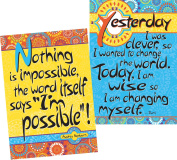 Barker Creek - Office Products I'm Possible I'm Wise Two 34cm x 48cm Motivational Poster Duet Set