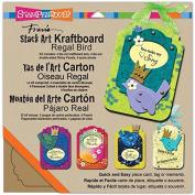 Stampendous Kraftboard Stack Art Kit, Regal Bird