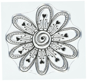 Woodware Craft Collection JGS187 Stamp Sheet, 8.9cm by 8.9cm , Flower Head Fiona