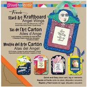Stampendous Kraftboard Stack Art Kit, Angel Wings