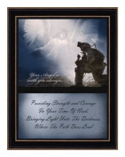 Trendy Decor 4 U DA1113SH Your Angel Is with You, Hardwood Shaker Framed and Textured Two Part Wall Art