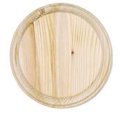 Darice 9179-60 Wooden Round Plaque, 13cm