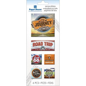 Paper House Productions STCA-0010E Canvas Stickers, Road Trip