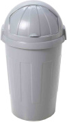 Whatmore 50 Litre Silver Plastic Bullet Kitchen Waste Bin Wham