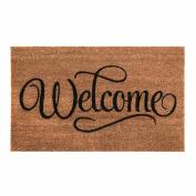 Get Goods Coir Doormats - 22 Assorted Designs - Rough Coir / Non-Slip Black Rubber Back - 60cm x 40cm