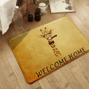 Non-slip and water absorbent cartoon door mat featured with Dogs suitable for indoor and outdoor use(40*60cm) , d