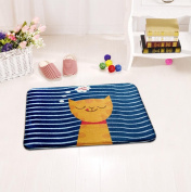 Non-slip and water absorbent cartoon door mat featured with cute cats suitable for indoor and outdoor use(40*60cm) , a