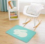 Non-slip and water absorbent cartoon door mat featured with Dog and rabbit suitable for indoor and outdoor use(40*60cm) , b