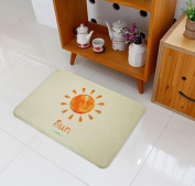 Non-slip and water absorbent cartoon door mat featured with Weather suitable for indoor and outdoor use(40*60cm) , sun