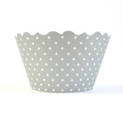 Bella Cupcake Couture 50-Pack Cupcake Wrappers, Silver