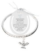 Silver-tone Angel Daughters Blessing Angel Heart Charm Bracelet & Bookmark - Jewellery Nexus