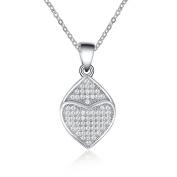 Simulated Diamond Double Heart Pendant Necklace Set
