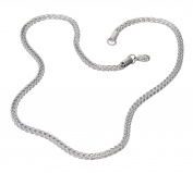 """S.Michael Designs Stainless Stteel 22"""", 4MM Wheat Necklace"""