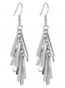 S.Michael Designs Stainless Steel Mulit Fringe Earrings