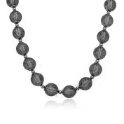 Riccova Country Chic Rhodium Mesh Over Lucite Balls Necklace/ Brass 41cm