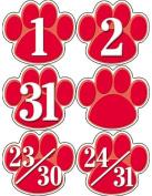 Teacher Created Resources Red Paw Prints Calendar Days
