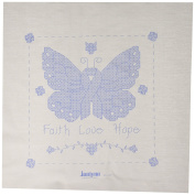 Janlynn Butterfly of Hope Quilt Blocks Stamped Cross Stitch, 38cm by 38cm , 6 Per Package