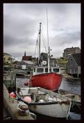 Laila's Sleepy Bay Boats Artwork by Kim Cartmell