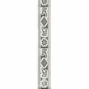 Offray Print Jacquard Craft Ribbon, 2.2cm x 2.7m, Antique White
