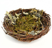 Touch of Nature 1-Piece Artificial Bird Nest with Moss for Arts and Crafts, 13cm , Brown