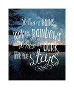 Studio Oh! Words to Live by When It Rains Look for Rainbows Art Print