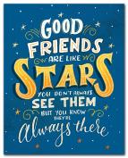 Studio Oh! Art Print, Good Friends Are Like Stars