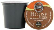 Tully's Coffee House Blend, K-Cup Portion Pack for Keurig K-Cup Brewers 24-Count