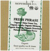 SerendipiTea Fresh Phrase, Organic Strawberry, Hibiscus, Apple, Rose Hips & China Green Tea, 120ml Box