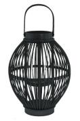 Renaissance 2000 24cm by 23cm Wooden Lantern, Large, Black