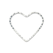 Beadalon Quick Link Heart 20 by 22-1/-Millimetre Diamond Cut Silver, Plated, 14