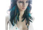 Long Feather Earrings for Women Tassel Howlite Feather Earrings for Women