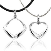 Modogirl Sliver Plated Jewellery Couples Heart Letters Long Pendant Necklace