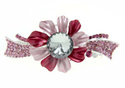 Fashion Dimensions Pink Large Flower Crystal Hair Clip Jewellery for Women