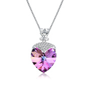 """Osiana """"Sweetheart """"Women's CZ Pendant Necklace Made with Elements Crystal Jewellery 46cm"""
