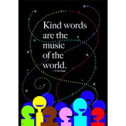 """Trend Enterprises """"Kind Words Are The Music"""" Poster, Large"""