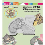 Stampendous Gruffies Cling Rubber Stamp, 8.9cm by 10cm , Piano Play