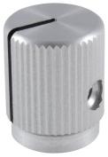 NTE Electronics 504-0033 Series JD Machined Aluminium Knob with Position Line, Matte Finish, 1.3cm Diameter, 0.6cm Shaft Diameter, Clear