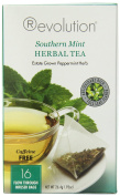 Revolution Tea Herbal Tea, Southern Mint, 16 Count