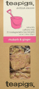 teapigs Rhubarb and Ginger Tea, 15 Count
