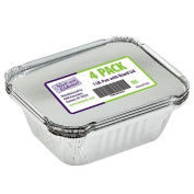 Nicole Home Collection 4 Count Aluminium Pan with Board Lid, 0.5kg