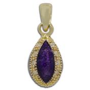 Purple Drop Russian Royal Faberge Egg Pendant Necklace 48cm