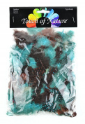 Touch of Nature Dyed Guinea Feathers for Arts and Crafts, 7gm, Earth/Sky Mix/Chocolate/Aqua/Robin Egg/Sienna
