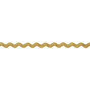 Rick Rack 5mm Wide Polyester Roll for Arts and Crafts, 25-Yard, Gold