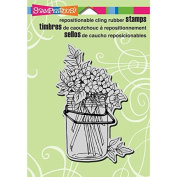 Stampendous Cling Rubber Stamp, 14cm by 11cm , Jar Bouquet