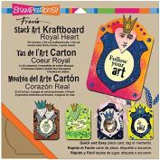Stampendous Kraftboard Stack Art Kit, Royal Heart
