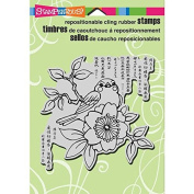 Stampendous Cling Rubber Stamp, 14cm by 11cm , Cherry Bird